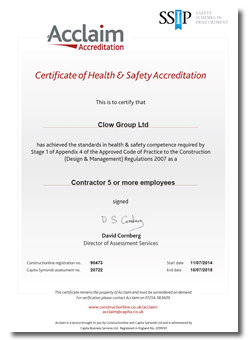 Acclaim Health & Safety Certification