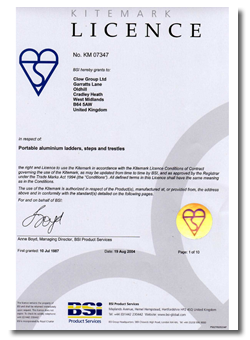 BSI Licence to use Kitemark
