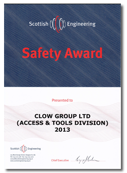 Scottish Engineering SAfety Award 2013