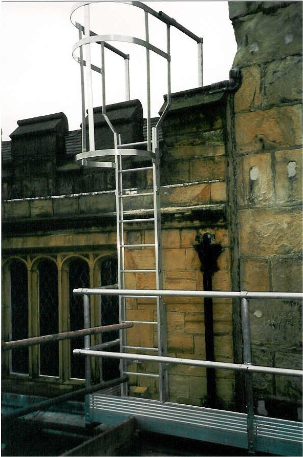 Ladder designed to access to the roof at St Marks Church, Aberdeen
